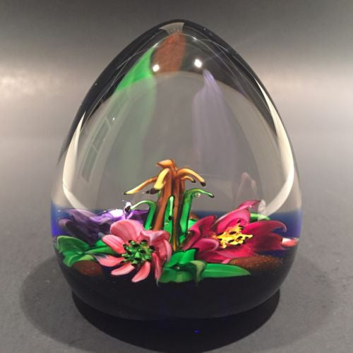 "Rare Caithness Allan Scott Art Glass Paperweight 3D lamp work ""Country Posy"""