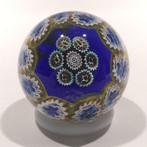 Vintage Miniature Murano Art Glass Paperweight Concentric Millefiori