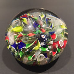 Antique Saint Louis Art Glass a paperweight End of Day Millefiori Scramble