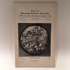The Paperweight Collectors Association PCA Annual Bulletin 1954 Vol. 1 No. 2