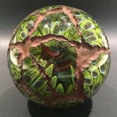 Huge Signed Due Vetro Art Glass Electroformed Marble Paperweight Sculpture