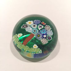 Vintage Murano Miniature Art Glass Paperweight Patterned Millefiori Tree