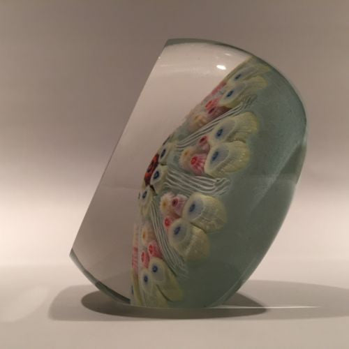 Vintage Upright Strathearn Art Glass Paperweight 8 Spoke Millefiori Twists