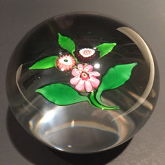 Large Antique Clichy Art Glass Paperweight Complex Millefiori Nosegay Bouquet