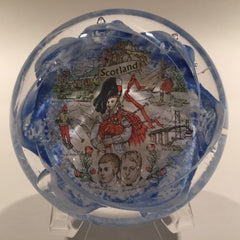 Tweedsmire Chirs Dodds Art Glass Paperweight Famous Scottish places & people