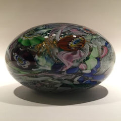 "Huge 7""  Murano Art Glass Paperweight Doorstop Tutti Frutti End Of Day Scramble"