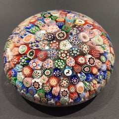 Huge Antique Baccarat Art Glass Paperweight Complex Closepacked Millefiori