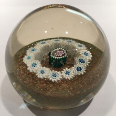 Vintage Murano Fratelli Toso Art Glass Paperweight Millefiori Grape Silhouette