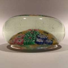 Early 1930s Chinese Art Glass Paperweight Panel Patterned Complex Millefiori
