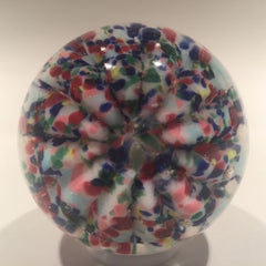 Antique Millville Art Glass Paperweight Multicolored Umbrella