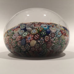 Antique Baccarat Art Glass Paperweight Complex Closepacked Millefiori