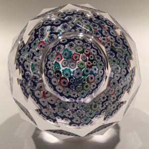 Vintage Whitefriars Art Glass Paperweight Closepacked Millefiori Complex Faceted