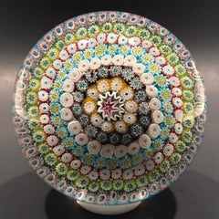 Exceptional Murano Piedouche Art Glass Paperweight Concentric Millefiori