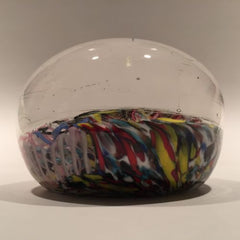 Vintage German or Murano Art Glass Paperweight End or Day Scramble
