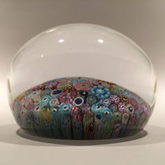 Baccarat Art Glass Paperweight Close Pack Millefiori 50+ Zodiac Silhouette Canes