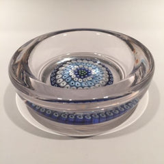 Vintage Whitefriars Art Glass Paperweight Millefiori Candy Dish/Ashtray c. 1970