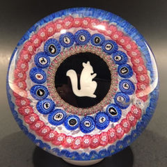 Damaged Modern Baccarat Art Glass Paperweight Griddle Silhouette Millefiori