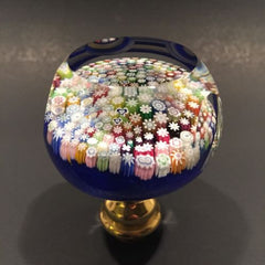 Perthshire Art Glass Paperweight Doorknob Concentric Closepacked Millefiori