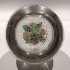 Antique New England Glass Co. NEGC Art Glass Paperweight Fruit Latticino Basket
