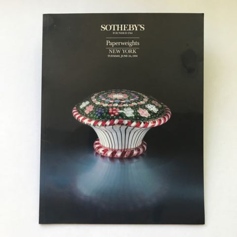 Sotheby's June 26, 1990 Auction Catalogue Art Glass Paperweights