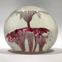 Rare Vintage American Ed Rithner Art Glass Paperweight Upright Frit Flower