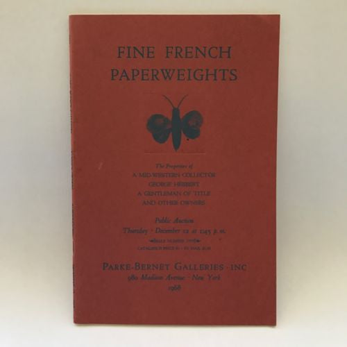 Parke Bernet February 14, 1969 Auction Catalogue Fine Glass French Paperweights