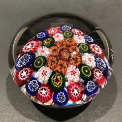 Rare Antique Bohemian/Silesian Art Glass Paperweight Complex  Millefiori