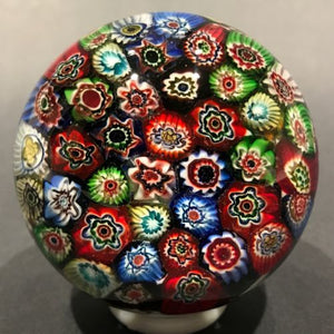 Vintage Murano Art Glass Paperweight Close Packed Millefiori
