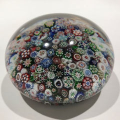 Huge Antique Baccarat Art Glass Paperweight Rare Complex Closepacked Millefiori