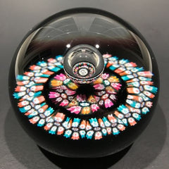 Vintage Caithness William Manson Art Glass Paperweight Millefiori Reflections