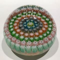 Vintage Perthshire Art Glass Paperweight Concentric Millefiori PP4