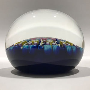Vintage Perthshire Art Glass Paperweight 11 Spoke & Millefiori PP2