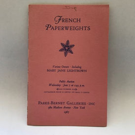 Parke Bernet June 7, 1967 Auction Catalogue Fine Glass French Paperweights