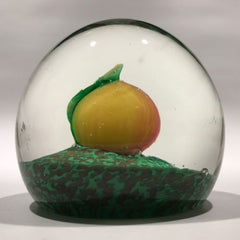 Vintage Murano Art Glass Paperweight Lampworked Pumpkin Squash
