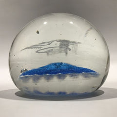 Vintage Ed Rithner Frit Art Glass Paperweight Imperial USA Advertising
