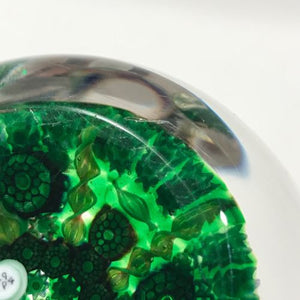 Perthshire P1998 Faceted Art Glass Paperweight Complex Millefiori