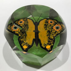Antique German Thuringian Art Glass Paperweight Butterfly Millefiori Wings