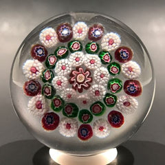 Antique Baccarat Miniature Art Glass Paperweight Complex Concentric Millefiori