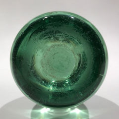 Antique English Floral Green Bottle Dump Art Glass Paperweight