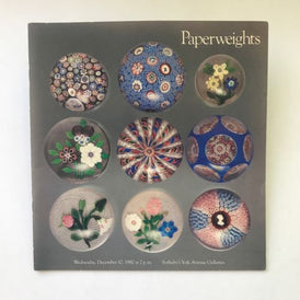 Sotheby's December 10, 1980 Auction Catalogue Art Glass Paperweights