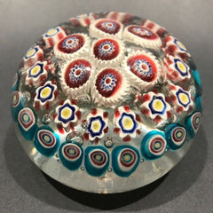 "Huge 4"" Early Murano Art Glass Paperweight Concentric Complex Millefiori"