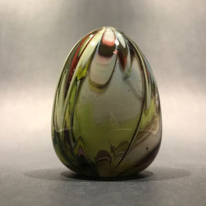 Early Unknown Maker Art Glass Paperweight Easter Egg Hand Cooler