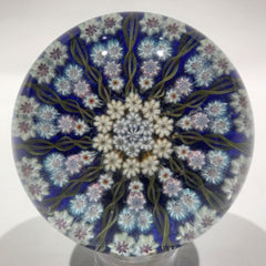 Vintage Perthshire Art Glass Paperweight 11 Twists & Millefiori PP2