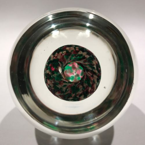Huge Vintage Murano Cenedese Art Glass Paperweight Christmas Themed Design
