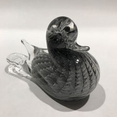 Rare Vintage Murano Handmade Art Glass Sfumato Sculpture Duck Figurine
