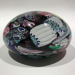 Huge Vintage Murano Art Glass Paperweight Millefiori End of Day Scramble