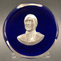 Franklin Mint Cristal D Albert Art Glass Paperweight John Paul Jones Sulphide
