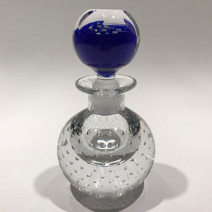 Vintage Pairpoint Art Glass Paperweight Millefiori Control Bubble Inkwell Bottle