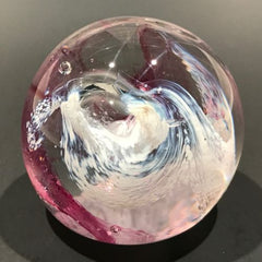 "Vintage Caithness Art Glass Paperweight Modern Scottish Design ""Moon Crystal"""