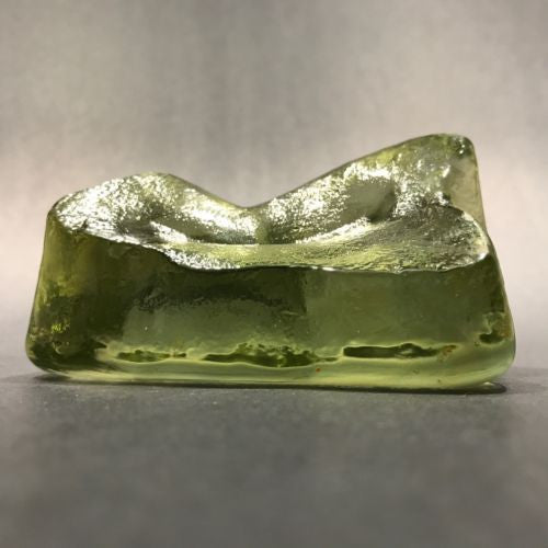 Early American? Green Slag Glass Glass Paperweight Molded Rock Mountain